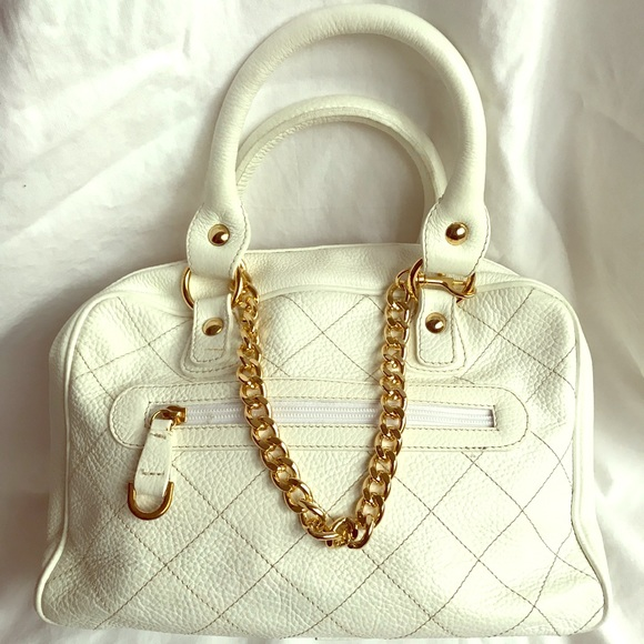 Guia's Handbags - Beautiful Italian White leather tote.